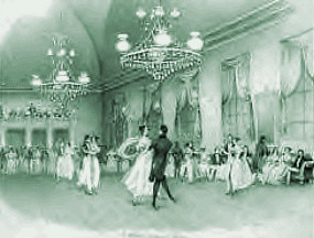 sheet music phot circa 1830s of a contradanse