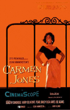 Carmen Jones Movie Poster featuring Dorothy Dandridge