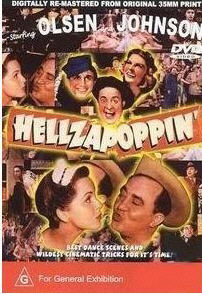 Hellzapoppin Movie Poster featuring Olsen and Johnson