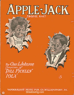 Apple Jack Sheet Music Cover, circa 1909