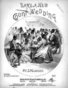 Dar's A New Coon Wedding Cake Walk