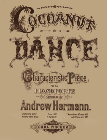 Cocoanut Dance Sheet Music Cover