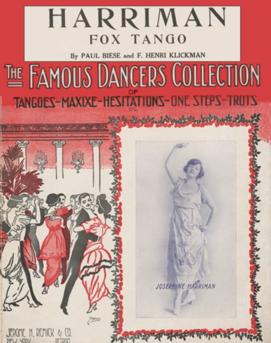 Harriman Fox Tango Sheet Music Cover