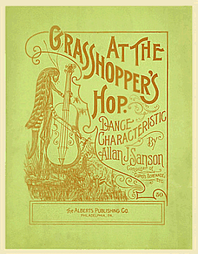 At the Grasshoppers Hop Sheet Music Cover, 1906
