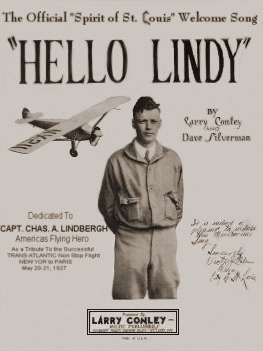 Hello Lindy The Official Spirit of St. Louis Welcome Song