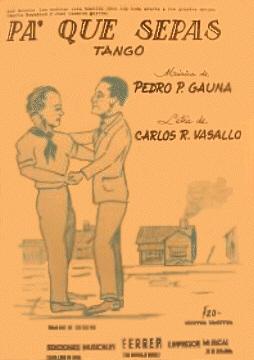 Pa' Que Sepas Tango Sheet Music Cover