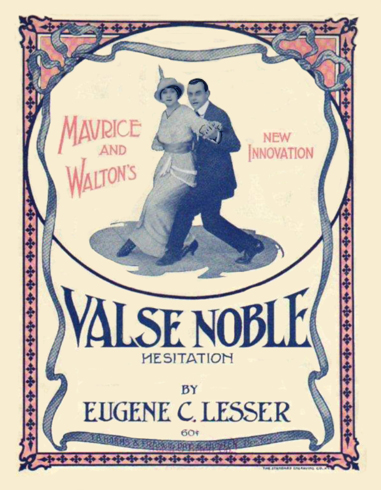 Valse Noble Sheet Music Cover - Maurice and Walton's new Innovation