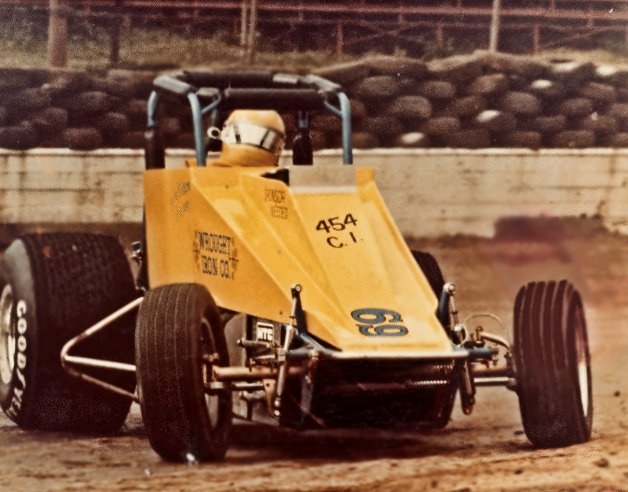 Jim Watson and his Sprint Race car